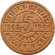Wooden Nickel - Seaforth 100 Years (Ontario) – reverse
