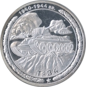 Token - Tanks of Russia (T-34) – obverse