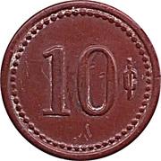 10 Centimos - F.U. Iquique – reverse