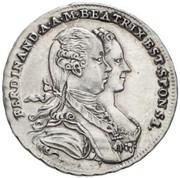 20 Kreuzer - Maria Theresia (Marriage Commemorative) – obverse