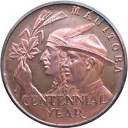 Medal - Manitoba Centennial – reverse