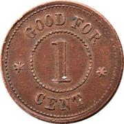 1 Cent - Civil War Token Knickerbocker Currency – reverse