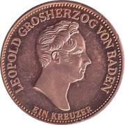 1 Kreuzer - Leopold zur Treue Karlsruhe – reverse