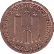 Token - 100 Jahre Hamburgische Münze – reverse