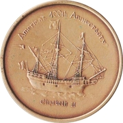 "Token - America's 400th Anniversary (Roanoke Voyages, North Carolina ""Elizabeth II"") – obverse"