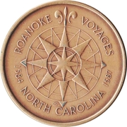 "Token - America's 400th Anniversary (Roanoke Voyages, North Carolina ""Elizabeth II"") – reverse"