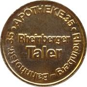 Rheinberger Taler - Römer Apotheke (Rheinberg) – reverse