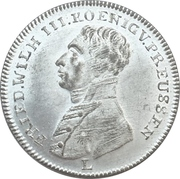 Token  - Friedrich Wilhelm III (Peace and the Treaty of Paris; Prussia) – obverse