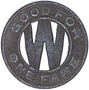 1 Fare - Wichita Falls Trac. Co. (Wichita Falls, Texas) – reverse