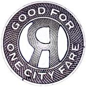 1 City Fare - Rockford Transit Company (Rockford, Illinois) – reverse