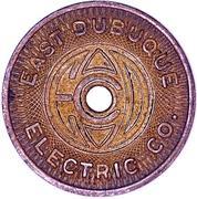 1 Fare - East Dubuque Electric Co. (East Dubuque, Illinois) – obverse