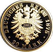 20 Mark - Heinrich XXII (Reuß-Greiz; Restrike) – reverse