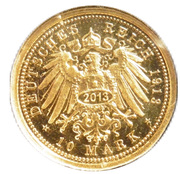 10 Mark - Wilhelm II Deutscher Kaiser König von Preußen (Restrike) – reverse