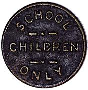 Token - Madison Railways Company (School Children Only) – reverse