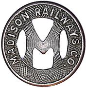1 Fare - Madison Railways Co. – obverse