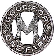 1 Fare - Madison Railways Co. – reverse
