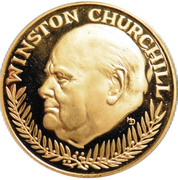 Token - Winston Churchill – obverse