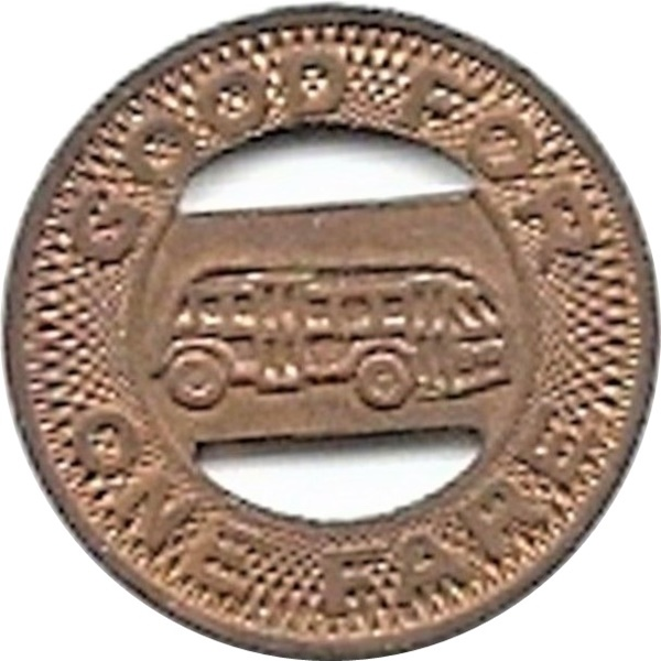 transit token El Paso City Lines Texas TX320E