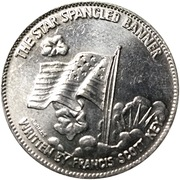 Token - Shell's Famous Facts and Faces Game (The Star Spangled Banner) – obverse