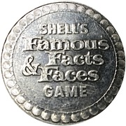 Token - Shell's Famous Facts and Faces Game (The Star Spangled Banner) – reverse