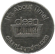 25 Cents Laundry Token - Clean Laundry – obverse