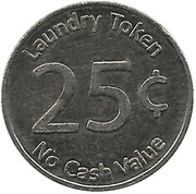 25 Cents Laundry Token - Clean Laundry – reverse