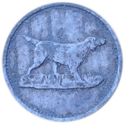 Spiel Marke (Dog and Bull) – obverse