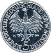 5 Deutsche Mark (Gottlieb Fichte) – obverse