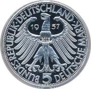 5 Deutsche Mark (Joseph von Eichendorff) – obverse
