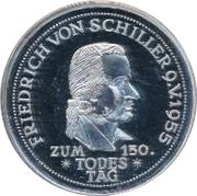 5 Deutsche Mark (Friedrich von Schiller) – reverse
