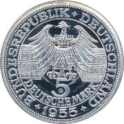 5 Deutsche Mark (Markgraf von Baden) – obverse