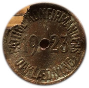 Confirmation Token - Fattige konfirmanders – obverse