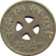 1 Fare - Lehigh Traction Co. (Hazleton, Pennsylvania) – reverse