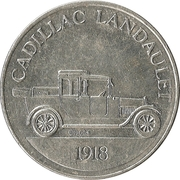 Token - Sunoco Antique Car Coin Series 1 (Cadillac Landaulet) – obverse