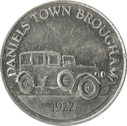 Token - Sunoco Antique Car Coin Series 1 (Daniels Town Brougham) – obverse