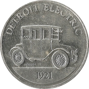 Token - Sunoco Antique Car Coin Series 1 (Detroit Electric) – obverse