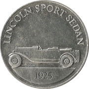 Token - Sunoco Antique Car Coin Series 1 (Lincoln Sport Sedan) – obverse