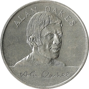Esso Token - 1970 England World Cup Squad (Alan Oakes) – obverse
