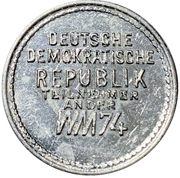 Token - 1974 FIFA World Cup (East Germany) – reverse