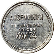 Token - 1974 FIFA World Cup (Argentina) – reverse