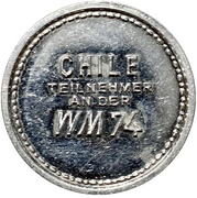 Token - 1974 FIFA World Cup (Chile) – reverse