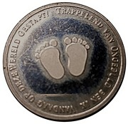 Token - Birth baby (Footprints; Dutch) – obverse