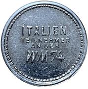 Token - 1974 FIFA World Cup (Italy) – reverse