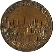 Token - Louis XV (Paris Administration Municipale) – reverse