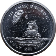Medal - Apollo 11 Mission (JFK's Dream Fulfilled) – obverse