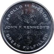 Medal - Apollo 11 Mission (JFK's Dream Fulfilled) – reverse