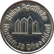 1 Heine-Taler - Heine Apotheke (Düsseldorf) – obverse