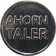 Ahorn Taler - Ahorn Apotheke (Moers-Kapellen) – reverse