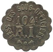 10 Centimes - 104e RI des Sous-Officiers – obverse