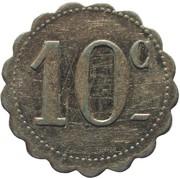 10 Centimes - 104e RI des Sous-Officiers – reverse